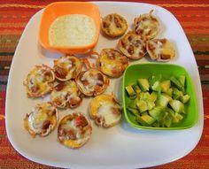Shelly's 'Tex-Mex' Mini Chili Cups with Cilantro Lime Yogurt Dip and avocado or guacamole...YUM!