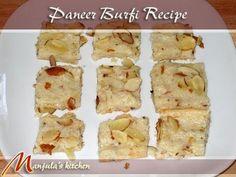 Paneer Burfi - Manjula's Kitchen - Indian Vegetarian Recipes