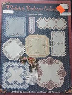 Delicate Designs In Hardanger Embroidery Pattern by TheHowlingHag, $8.95