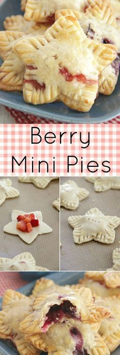 Berry Mini Pies - perfect for the 4th of July!