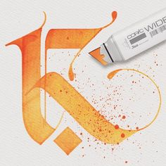 "Check lalitmourya207's Instagram Letter ""K"" design with Copic wide marker....How is it?....✌ Follow me @lalit.mourya207 #lalitmourya207 #calligraphymasters #typegang #handmadefont #goodtype #thedailytype #copicmarkers #copicwide @copicmarker 1588466204425758476_2028273825"