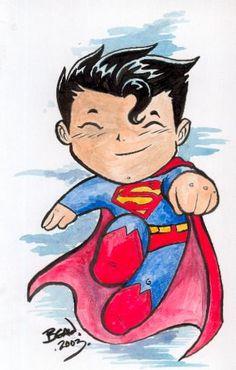 Chibi-Superman. by hedbonstudios on deviantART