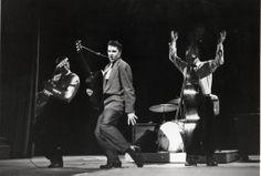 """Elvis  March 17, 1956  CBS Studio 50 on the the Dorsey Brothers """"Stage Show""""   Photo by Alfred Wertheimer. All rights reserved."""