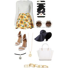 Summer in England by prettyfulpam on Polyvore featuring polyvore, fashion, style, Alexander McQueen, Kendra Scott, J.W. Anderson, Wildfox and Alice + Olivia