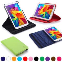 """360 Rotating Cover Stand For Samsung Galaxy Tab 4 7.0 Case 7"""" inch SM-T230 NOOK #UnbrandedGeneric"""