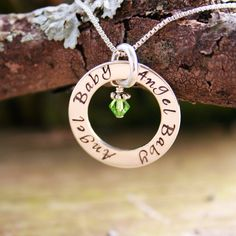 Angel Baby Affirmation Necklace #miscarriage #babyloss #jewelry #miscarriagejewelry #memorial #pregnancyloss #gift