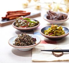 Korean Temple Food | A variety of fermented food is made at Korean Buddhist temples. If cheese, yogurt and wine are typical fermented food in the West, those in Korea are kimchi, soy sauce, soybean paste, red pepper paste, vinegar, rice punch, and pine needle tea.