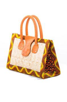 Shop at Kuwala for the Trekume Bamboo Handbag by Poqua Poqu - 2 African Fashion Ankara, African Inspired Fashion, Nigerian Fashion, Ghanaian Fashion, African Accessories, African Jewelry, African Print Clothing, African Prints, Crossbody Bag