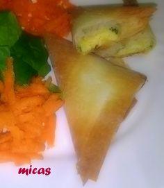horta e cozinha: Triângulos de Massa Philo com Queijo Magro e Espinafres