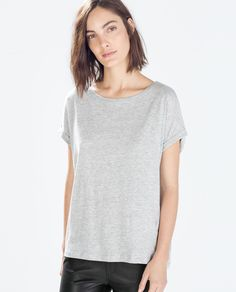 Cotton T-shirt by Zara - Found on HeartThis.com @HeartThis   See item http://www.heartthis.com/product/321099083576242243/