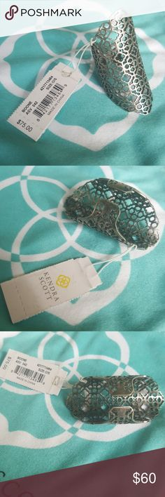 Kendra Scott Antique Silver Boone Ring One Size (adjustable) filigree finger ring. Antique Silver. Super cute! New! Kendra Scott Jewelry Rings