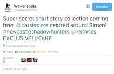 short story series about Simon!!!! coming soon!!! AH! Thank you, Cassie Clare!