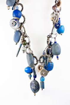 Holly Masterson Lapis and Jade Dangle Necklace