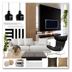 """modern design"" by mariarty ❤ liked on Polyvore featuring interior, interiors, interior design, home, home decor, interior decorating, West Elm, ABC Italia, BoConcept and Artek"