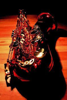 Red Tenor Saxophone