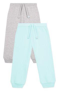Pack de 2 calças de fato de treino em aqua e cinzento