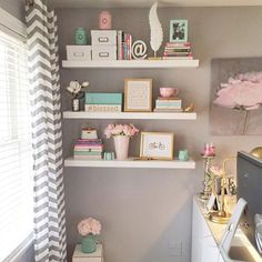 60 Ideas Home Office Guest Room Combo Pink For 2019 Guest Room Office, Home Office Space, Home Office Design, Home Office Decor, Home Decor, Office Ideas, Grey Office, Cute Room Decor, Dream Rooms