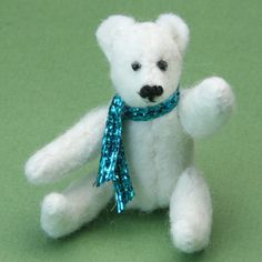 Pattern for miniature teddy bear.... with instructions. I can do this..... Would probably fit in altoid box.... will see.