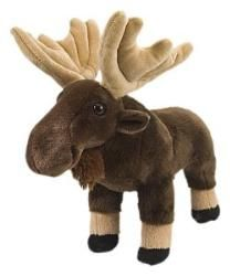 """Cuddlekins Standing Moose by Wild Republic - 11038  Cuddlekins are one of the most popular stuffed animals made! Each cute and cuddly Cuddlkins is made with quality material and extremely soft. This plush wildlife toy is great for all ages. The perfect gift for the animal lover in your life. Measures 12"""""""