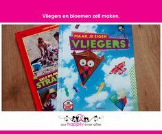 Vliegers zelf maken is leuk met het boekje van the funny show. Wij maakten vliegers zelf en ook bloemen met het tweede boekje. Heel fijn voor de kinderen.