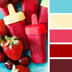 berries color bright red color bright-blue color cherry color color matching for party light blue color maroon color red color red shades sunny yellow color warm yellow color yellow color Colour Pallette, Colour Schemes, Color Combos, Maroon Color Palette, Light Blue Color, Red Color, Color Balance, Color Swatches, Grafik Design