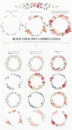 Watercolour Wreath Creator on Behance