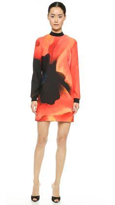 Victoria Victoria Beckham Print Tunic Dress