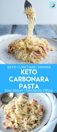 Carbonara pasta is such an easy keto recipe, super creamy, and such an easy family dinner as a substitute for normal pasta (or eaten in combination with your family). Its so easy, and tastes like you've just visited an Italian home in the hills of Tuscany. Pure Deliciousness.