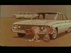 """""""IT'S A FORD FALCON, CHARLIE BROWN!"""" The always wonderful Paul Frees narrates these gems for the 1961 Ford Falcon, featuring Linus, Pigpen and Snoopy (!!!). All this time, I thought the Peanuts characters made their animated debut in 1965's A Charlie Brown Christmas. But lo and behold, they were in TV commercials much earlier!"""