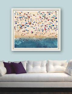 Aeriel Summer Beach - Trowbridge Gallery
