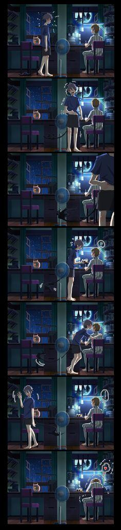 l'amour d'un frère pour Yukio 💙 Rin Okumura - Ao No Exorcist Cute Couple Comics, Couples Comics, Rin Okumura, Blue Exorcist Anime, Ao No Exorcist, Anime Shows, Tom Holland, Image Boards, Haikyuu
