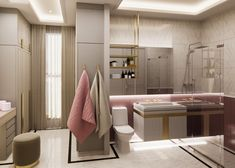 Designing kid's spaces to the next level? Here's a sophisticated and elegant Interior design transformation of a residential bathroom. Empire Design, Modern Crib, Residential Interior Design, Kid Spaces, Bathroom Interior, Cribs, Elegant, Luxury, Home