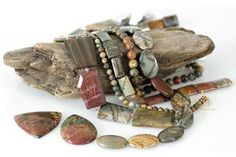 Red creek jasper beads a/k/a Chinese Picasso beads and Reed Picasso beads