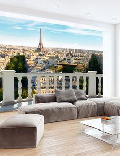 Carta da Parati Parigi Giorno Carta da Parati Fotomurale Tema Viaggi