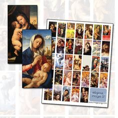 Religious Christian and Catholic Digital Collage Sheet by magicpug
