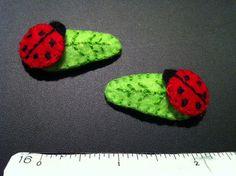 ladybug barrettes