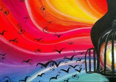 """""""Release"""" Acrylic on stretched canvas. © 2013 Julie Joaquin."""