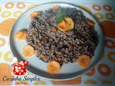 Mix de cereais integrais,sementes e grãos com legumes e funghi secchi - Cozinha Simples da Deia