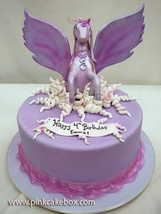 Pegasus Birthday Cake Happy Cakes Little Girl Themed