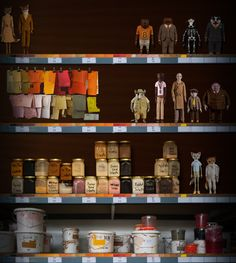 FANTASTIC MR FOX - all those paints labelled and organised. Even that I'm in love with.
