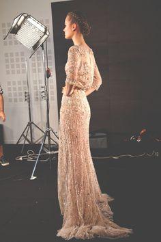 elie saab haute couture f/w 2012, jac jagaciak backstage