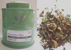 Cucumber Mint tea from Whittard's Whittard, Mint Tea, Cucumber, Herbalism, Joy, Spearmint Tea, Peppermint Tea, Being Happy, Cauliflowers