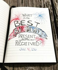 Journal Prompt: 4th of July Journal: Venture by @rusticomade  Art by @ctadje  #freedom #justwrite #freedomofspeach #birthday #rusticomade #fireworks #sketch #journaling #journal