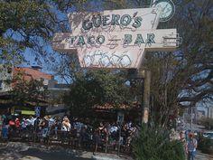 Guero's Taco Bar has a great beer garden w/killer tacos/salsa!