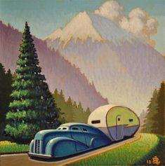 """Mountain Road"" - Original Fine Art for Sale - © Robert LaDuke"