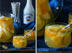 Cool down this summer with this refreshing Tropical Pineapple Coconut Sangria! It's an instant party in a pitcher! Easy Cocktails, Classic Cocktails, Cocktail Drinks, Cocktail Recipes, Cocktail Parties, Drink Recipes, Pineapple Coconut, Coconut Rum, Moscato Sangria