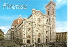 """The Florence Cathedral is a gothic-style basilica, and is a famous landmark of the historical district of Italy's Florence. Construction of the basilica began in 1296, and took more than 140 years to complete. The Florence Cathedral is composed of three buildings: the """"Duomo,"""" which is famous for its huge dome roof and is the fourth-biggest cathedral in the world; the """"Baptistery of San Giovanni,"""" an octagonal building famous for the """"Gates of Paradise;"""" and """"Giotto's Bell Tower."""""""