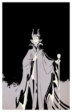 Villain Maleficent Poster minimalistic Disney 11x17 by PosterForum