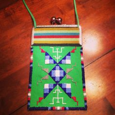 Beaded trade cloth side bag by Norma Flying Horse