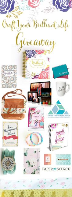 Craft Your Brilliant Life Giveaway http://itz-my.com